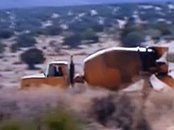 Skywalk travaux dans le desert