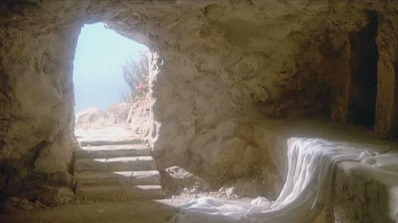 Le tombeau de jesus ouvert